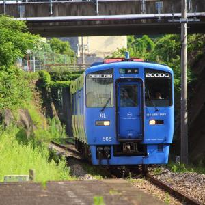 JR九州 長崎本線・旧線 キハ200形 SSL色 道ノ尾駅 (2019.07.28)