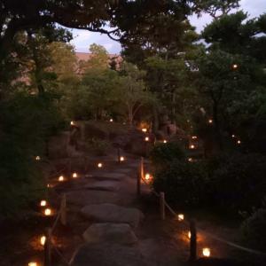 尾道灯り祭り 爽来軒のお茶会へ