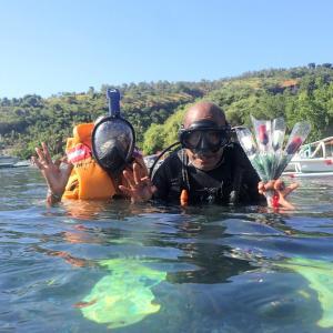 水中バースデーサプライズ@バリ島ダイビング アメッド