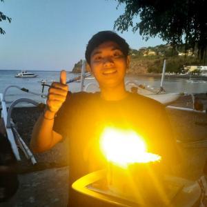 息子の21歳の誕生日@バリ島アメッド