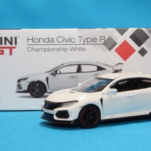 MINI GT ホンダ シビック(FK8) Type-R チャンピオンシップホワイト RHD 1/64スケール