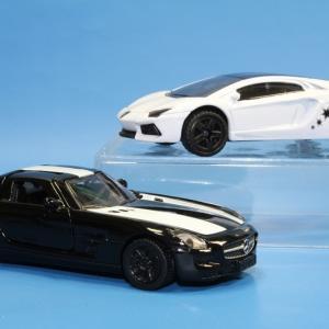 ジク メルセデスベンツ SLS AMG / ランボルギーニ アヴェンタドール 限定セット ブラック&ホワイト