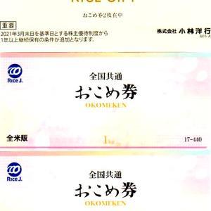 小林洋行(8742)より決議通知、通信、配当金、優待品とうちゃこ