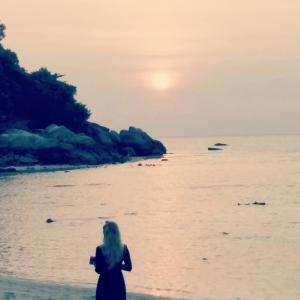 リぺ島への旅(4) サンセットビーチの夕日