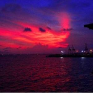 マラッカの夕日