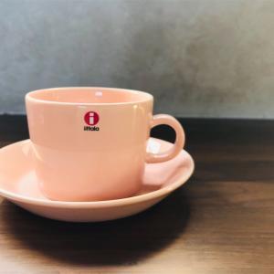 Iittala(イッタラ) ティーマパウダー のカップアンドソーサー ◎ フルッタペールピンクと合わせてピンクの北欧食器集め𓇼