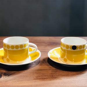 スンヌンタイのティーカップアンドソーサーを追加購入💛アラビアフィンランドから復刻された黄色い食器𓇼
