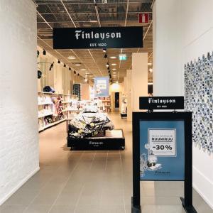 Finlayson (フィンレイソン)北欧テキスタイルのアウトレットへ♪ ヘルシンキのアラビアデザインセンター内𓇼