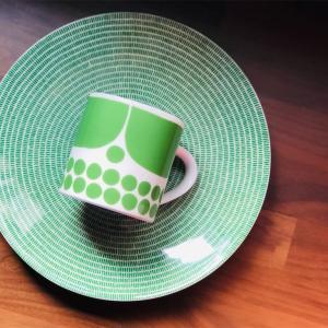 Arabia Finlandアベックの新色グラスグリーン◎映画『かもめ食堂』で有名になったおにぎりプレート𓇼