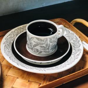 おうちカフェxゲフレ フォンタナ(Gefle Fontana)カップ&ソーサーとプレート◎ 北欧スウェーデンの食器𓇼