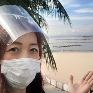 噂のホワイトサンドビーチ White sand beach at Manila bay.