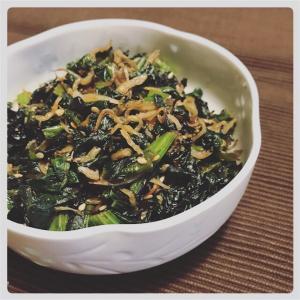 【簡単料理】カルシウムたっぷり、大根葉の常備菜