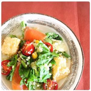 【簡単料理】女性の味方!キヌアとグレープフルーツのサラダ