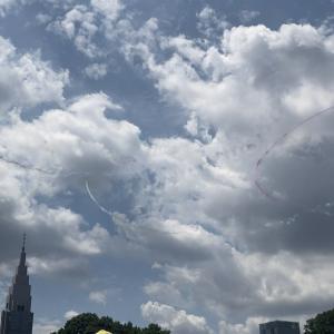 Tokyo Olympic 航空ショー ブルーインパルス