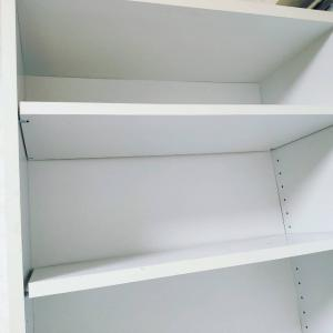 本棚の中身を全出しして別の場所に移動。