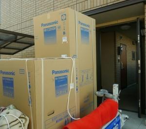静岡市まで冷蔵庫とドラム式洗濯乾燥機を配達・設置