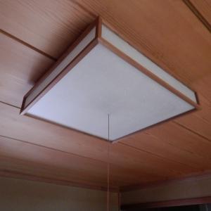 既設の和室シーリングライトは、直付けタイプが多い