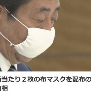 1住所当たり2枚の布マスクを配布の方針 安倍首相