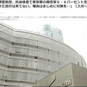 岡田晴恵教授、抗体検査で東京都の陽性率0・6パーセントを生解説「まだ流行は来てない。理由はまじめに対策を…」
