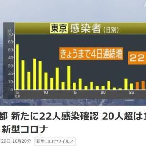 東京都 新たに22人感染確認 20人超は15日ぶり 新型コロナ