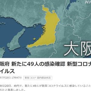大阪府 新たに49人の感染確認 新型コロナウイルス
