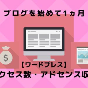 【ブログを始めて1ヵ月】アクセス数・アドセンス収益は どれくらいになったのか!?