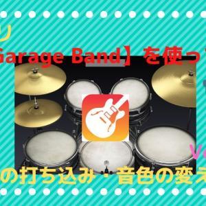 【GarageBand】ビートシーケンサーでドラムの打ち込み・音色変更までをやってみたよ!