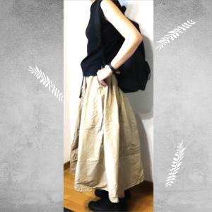 coen(コーエン)のUSAコットンノースリーブTシャツ+nikoand(ニコアンド)のロングスカート