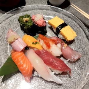 夏の寿司ランチ