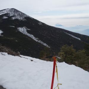 冬の西岳と編笠山「富士見高原から周回で散策♪」