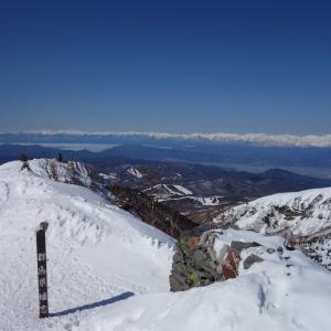3月の四阿山「あずまや温泉から残雪期の四阿山を散策♪」