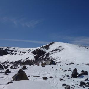 冬の浅間山「天狗温泉 浅間山荘から3月の前掛山へ♪」