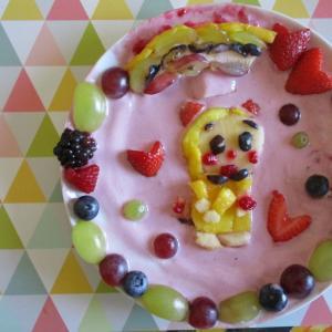 フルーツギャラリー風♥虹の下のドラミちゃん♪♪