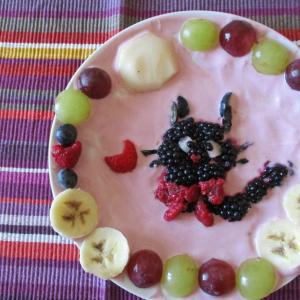 フルーツギャラリー風♥クロネコのジジと満月♪♪