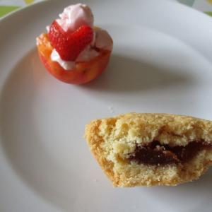 リグーリア菓子☆アプリコットピューレ入りのビスコッティ♪グッベレッティにアプリコット&イチゴのフローズンヨーグルトを添えて♥