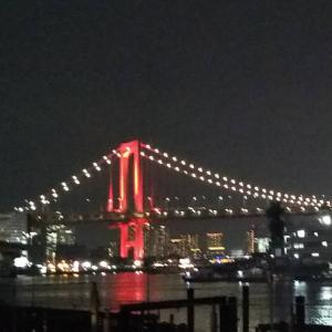 レインボーブリッジが赤色でした