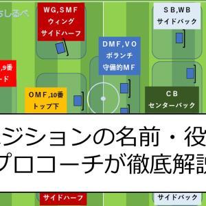 サッカーのポジションの名前と役割【まとめ】全ポジション徹底解説