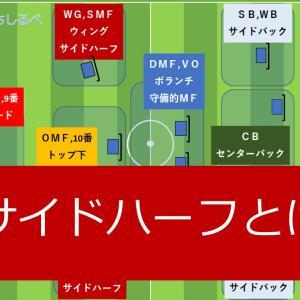 サッカーのポジションの名前【サイドハーフとは?】