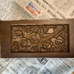 木彫り作品の修理