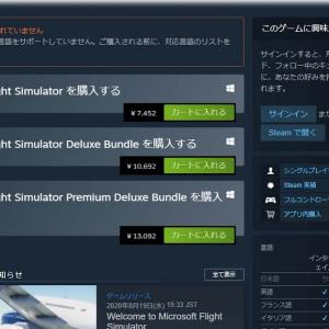 200820 Microsoft Flight Simulator 2020を購入しました