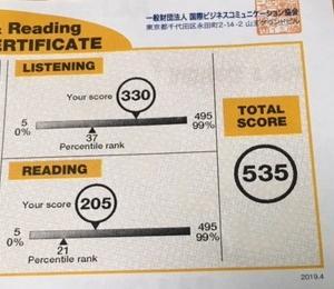 【TOEIC】報奨金まであと65点 あと2ヶ月で600点目指します。