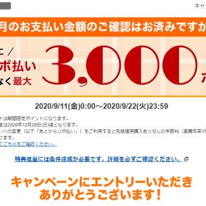 【楽天カードの「あとリボキャンペーン】前月の買い物ゼロで参加する方法を検証中。