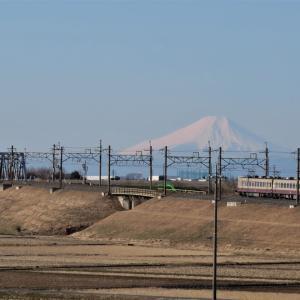 東武日光線と富士山・1年前は