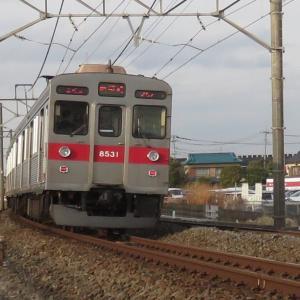 東急8531電車(3月の東武日光線)