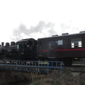 真岡鉄道SL・七井駅を過ぎて