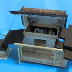 鳥取県の投入堂から下界を望む(ジオラマ)