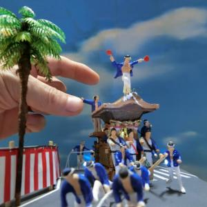 岸和田だんじり祭りジオラマ、ついに完成!