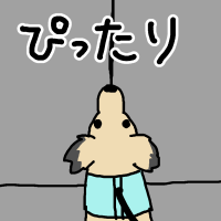 エレベーターと犬
