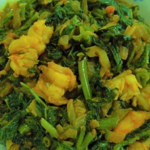 エビと空心菜のカレー