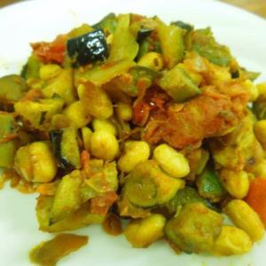 ミックス野菜の炒めもの(ドライトマト入り)